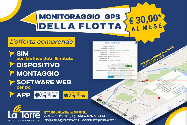 MONITORAGGIO GPS DELLA FLOTTA